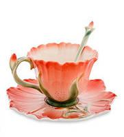 Фарфоровая чайная пара Гентиана (Pavone) FM- 01/22, фото 1