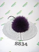 Хутряний помпон Песець, Фіолетовий, 10 см, 8834