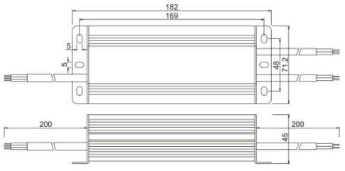Герметичный блок питания JLV-12060KA 12 Вольт 60W 5А IP66, фото 2
