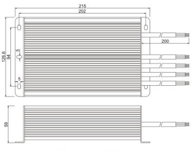 Герметичный блок питания JLV-12150KA 12 Вольт 150W 12.5А IP66, фото 2