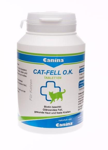 Canina Cat Fell O. K., 100табл - витамины для здоровья шерсти кошек