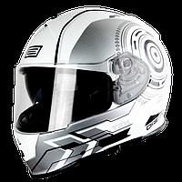 Origine GT Tek  Silver белый/серый глянцевый, M, мотошлем интеграл