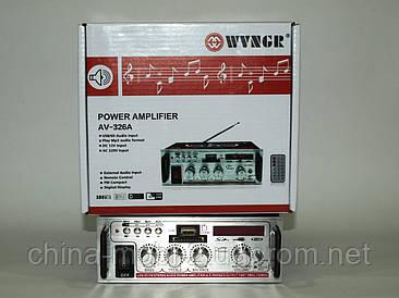Усилитель (ресивер) рэковый WVNGR AV-326A 50W MP3/SD/USB/AUX/FM 12v/220v