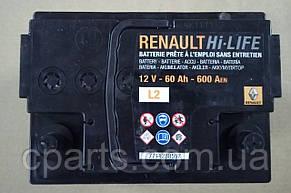 Аккумуляторная батарея (60 Ah-600 A) Renault Logan (оригинал)