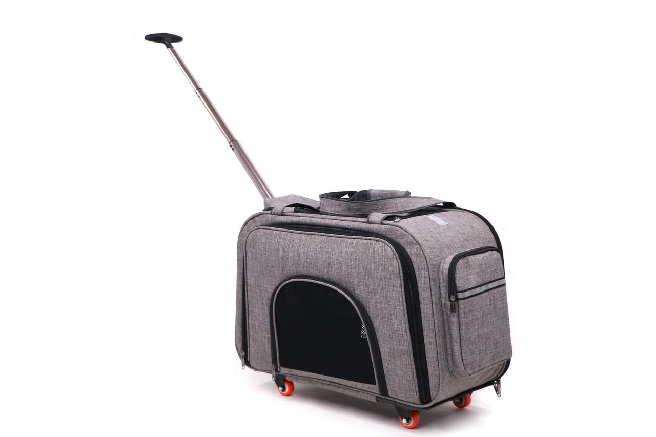 Кейс-переноска для собак и котов Do Do Pet, Space Grey серый