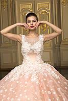 Нежно розовое свадебное платье