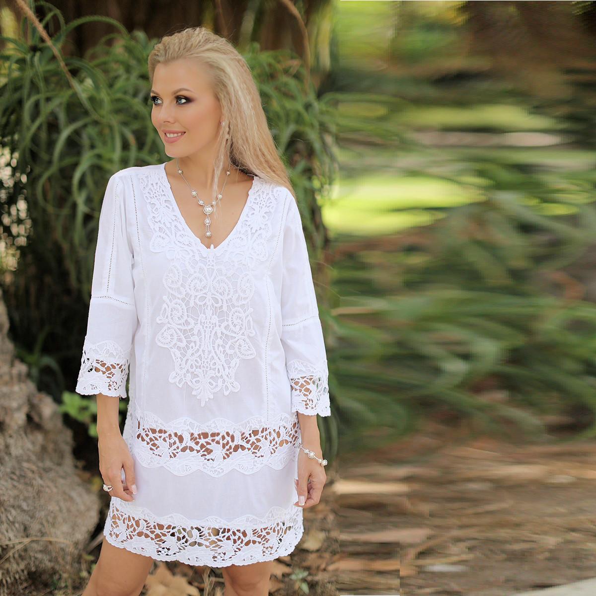 d43be7006dd Летнее платье из индийского натурального хлопка 368 F - Интернет-магазин  Леди-лайн в