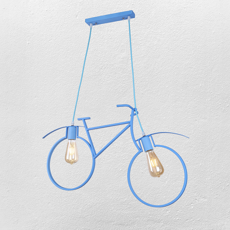 """Люстра в стиле лофт """" велосипед"""" (модель 56-PR7021-2 BLUE)"""