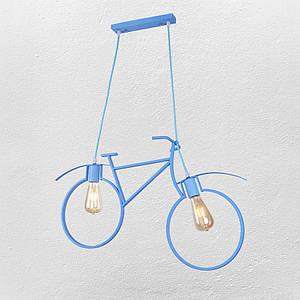 """Люстра в стиле лофт """" велосипед"""" 56-PR7021-2 BLUE"""