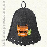 Шапка для сауны «Boss»
