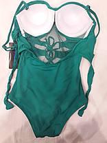 Купальник 31806 Шнуровка зеленый на 46 48 размеры., фото 3