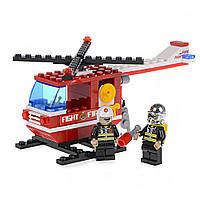 Детский конструктор (Пожарная бригада) пожарный вертолет IM61A1