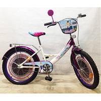 Детский Велосипед TILLY Стюардеса 20 T-22027 white + dark purple