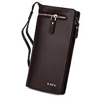 Кошелек Kafa - удобный, красивый, функциональный (коричневый)