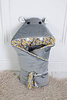 Конверт-одеяло на выписку Бегемотик Мота-Мота MagBaby (110120)