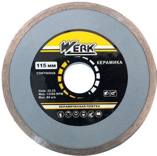 Алмазный диск Werk Ceramics 1A1R WE110120 (115х5x22.225 мм)