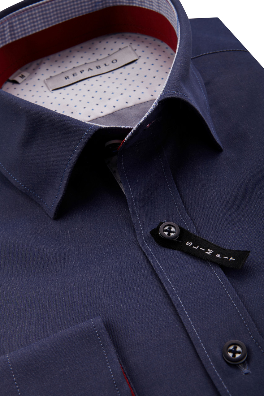Темно-синяя рубашка KS 1755-4 разм. L