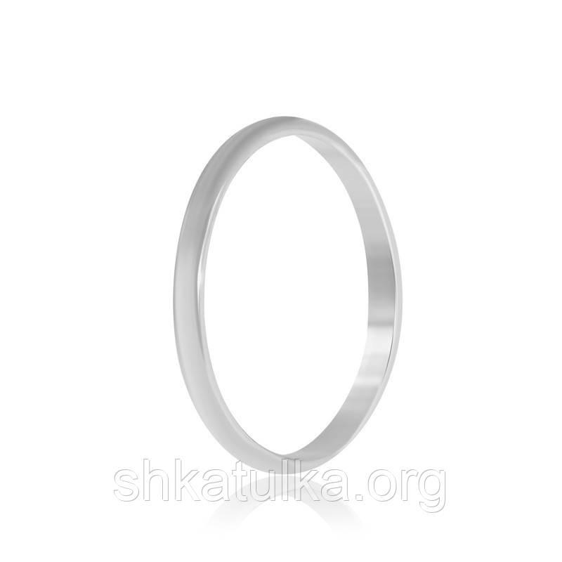 Обручальное кольцо серебряное К2/800 - 19,3
