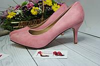 Туфли женские пудра маленький каблук , фото 1