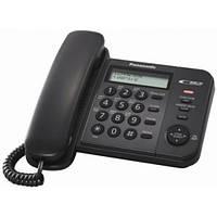 Panasonic KX-TS2356UAB Black, проводной телефон