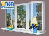 Трехстворчатое окно Rehau 60