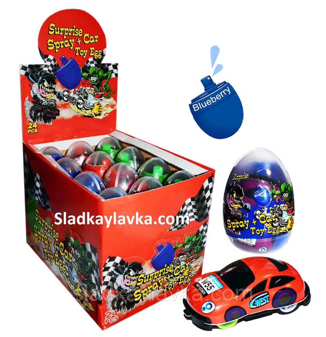 Карамель Спрей-яйцо+машинка Surprise Spray 24 шт (Китай)