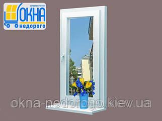 Одностулкове вікно Rehau 60