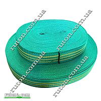 Лента буксировочная капроновая50 мм х 25 метров - тесьма для стяжных ремней зеленая