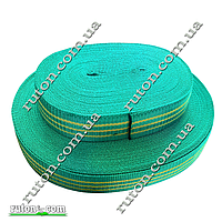 Лента, тесьма буксировочная капроновая50 мм х 25 метров - тесьма для стяжных ремней зеленая