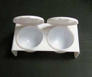 Емкость двойная для жидкости(мономера)с крышкой