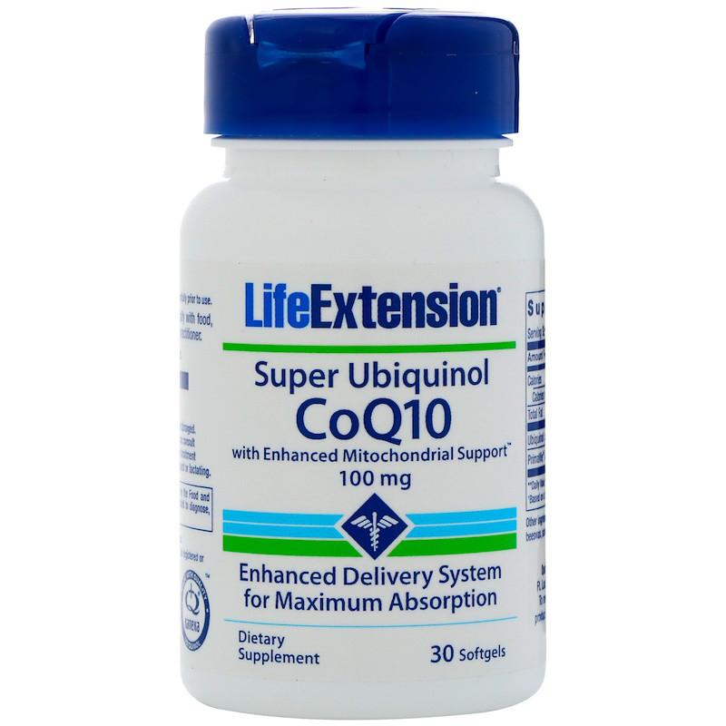 Life Extension, Super Ubiquinol CoQ10 with Enhanced Mitochondrial Support, 100 mg, 30 Softgels