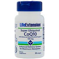 Life Extension, Super Ubiquinol CoQ10 with Enhanced Mitochondrial Support, 100 mg, 30 Softgels, фото 1