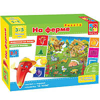 Игра настольная На ферме VT1603-01- Vladi Toys, ТМ ВладиТойс