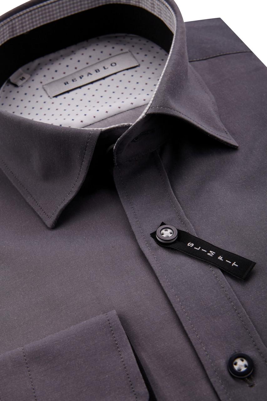 Серая рубашка KS 1755-3 разм. L