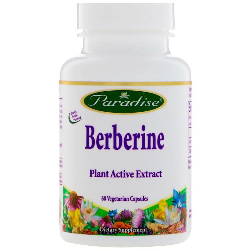 Paradise Herbs, Берберин, 60 вегетарианских капсул