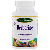 Paradise Herbs, Берберин, 60 вегетарианских капсул, фото 1
