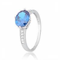 Серебряное кольцо с фианитом КК2ФЛТ/370 - 20