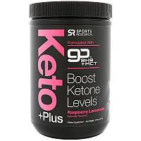 Sports Research, Keto Plus, GO BHB + MCT, малиновый лимонад, 1,05 фунт (476 г)