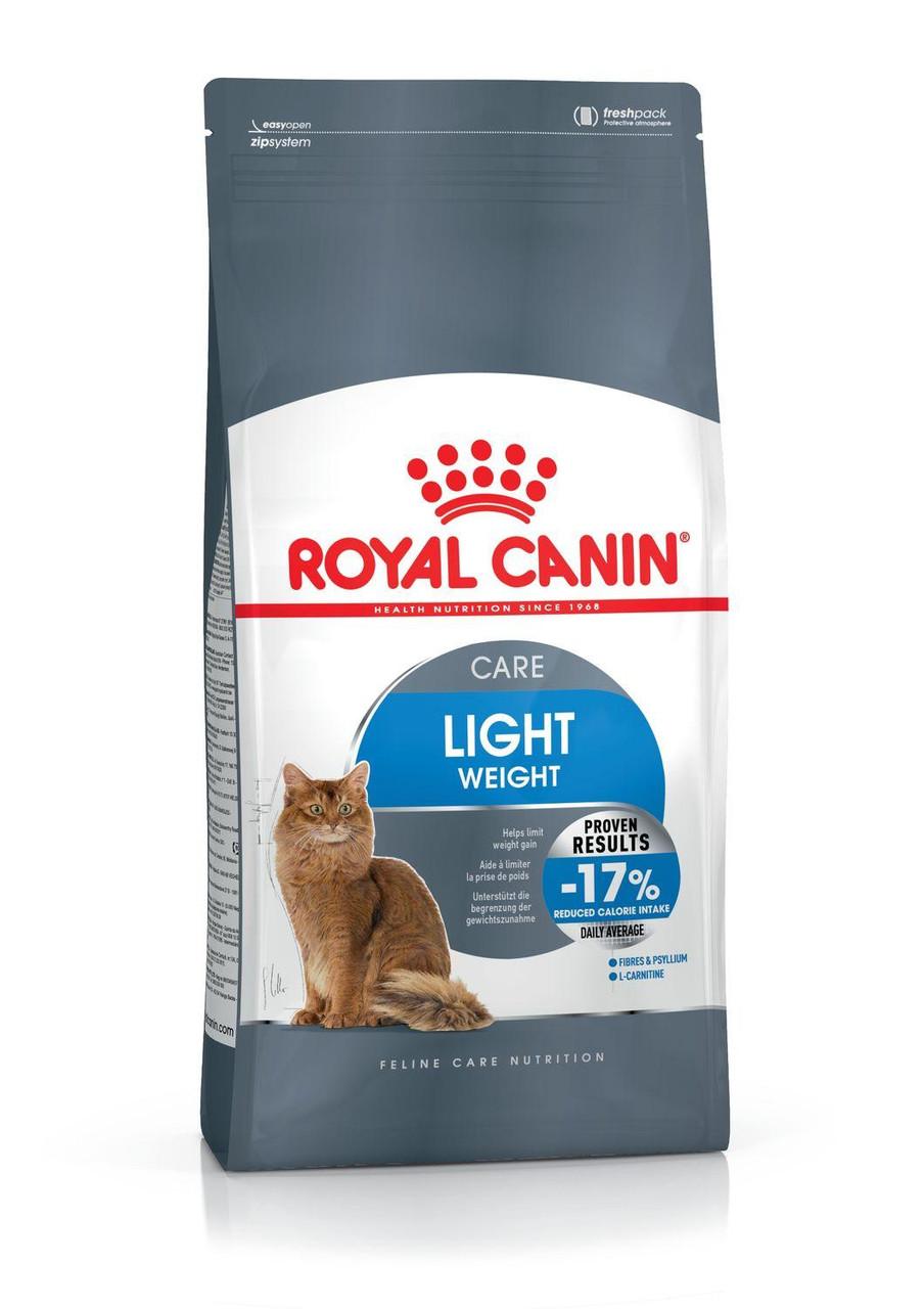 Для котов и кошек склонных к ожирению Royal Canin Light weight care, 10 кг