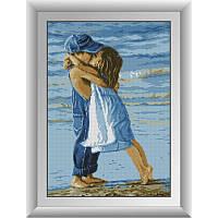 Набор алмазной живописи (квадратные, полная)30013 Дети на пляже. Dream Art. 35*50см