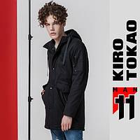 Парка японская мужская весна осень Kiro Tokao - 8888 черный