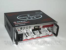 Усилитель (ресивер) рэковый WVNGR AV-326A 50W MP3/SD/USB/AUX/FM 12v/220v, фото 3