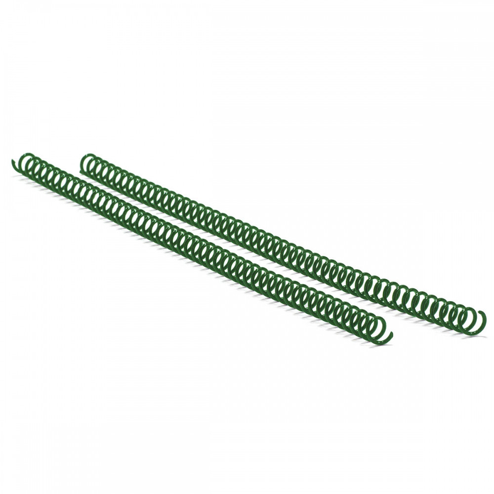 Спираль пласт. Agent A4, 4:1, 16мм, зел, уп/100