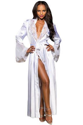 Халат Diva Vanila длинный L белый, фото 2