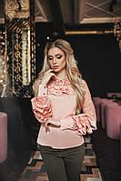 Шикарная блузка украшенная рюшами и люрексовой сеткой , фото 1
