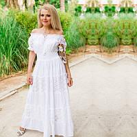 6fbff08879a Шикарное белое платье в пол для лета 640 F