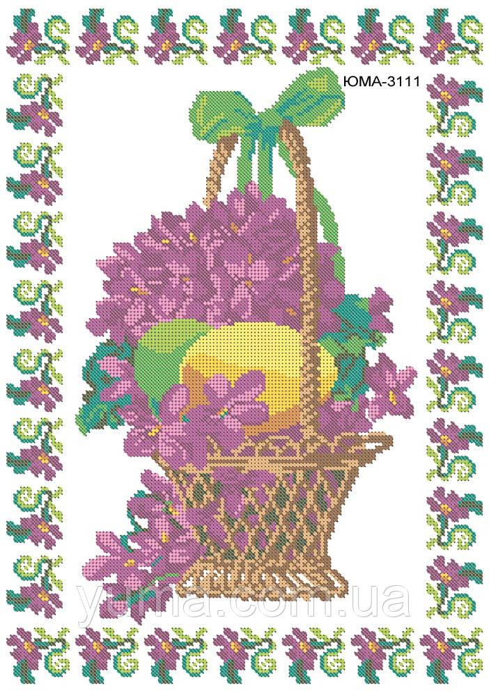 Схема для вышивки пасхальной салфетки