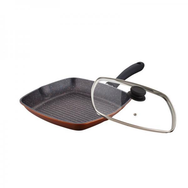 Сковорода-гриль Peterhof PH-25312 28*28см с крышкой