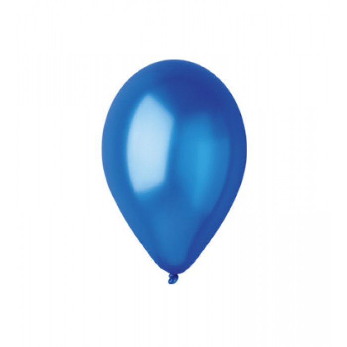 """Металлик синие 5"""" (13 см). Латексные воздушные шарики 100 шт. ТМ Gemar"""