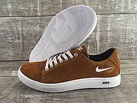Мужские замшевые кроссовки Nike код N5 рыжие